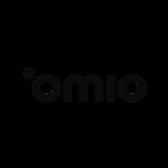 Das Logo der Firma omio, welche unsere Telefonzellen/Telefonkabinen/Telefonboxen/Raum In Raum Systeme/Meetingboxen in ihrem Büro nutzt.