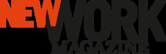 Das Logo der Firma New Work Magazine, dass über die Rache der Telefonzelle schreibt.