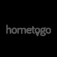 Das Logo der Firma hometogo, welche unsere Telefonzellen/Telefonkabinen/Telefonboxen/Raum In Raum Systeme/Meetingboxen in ihrem Büro nutzt.