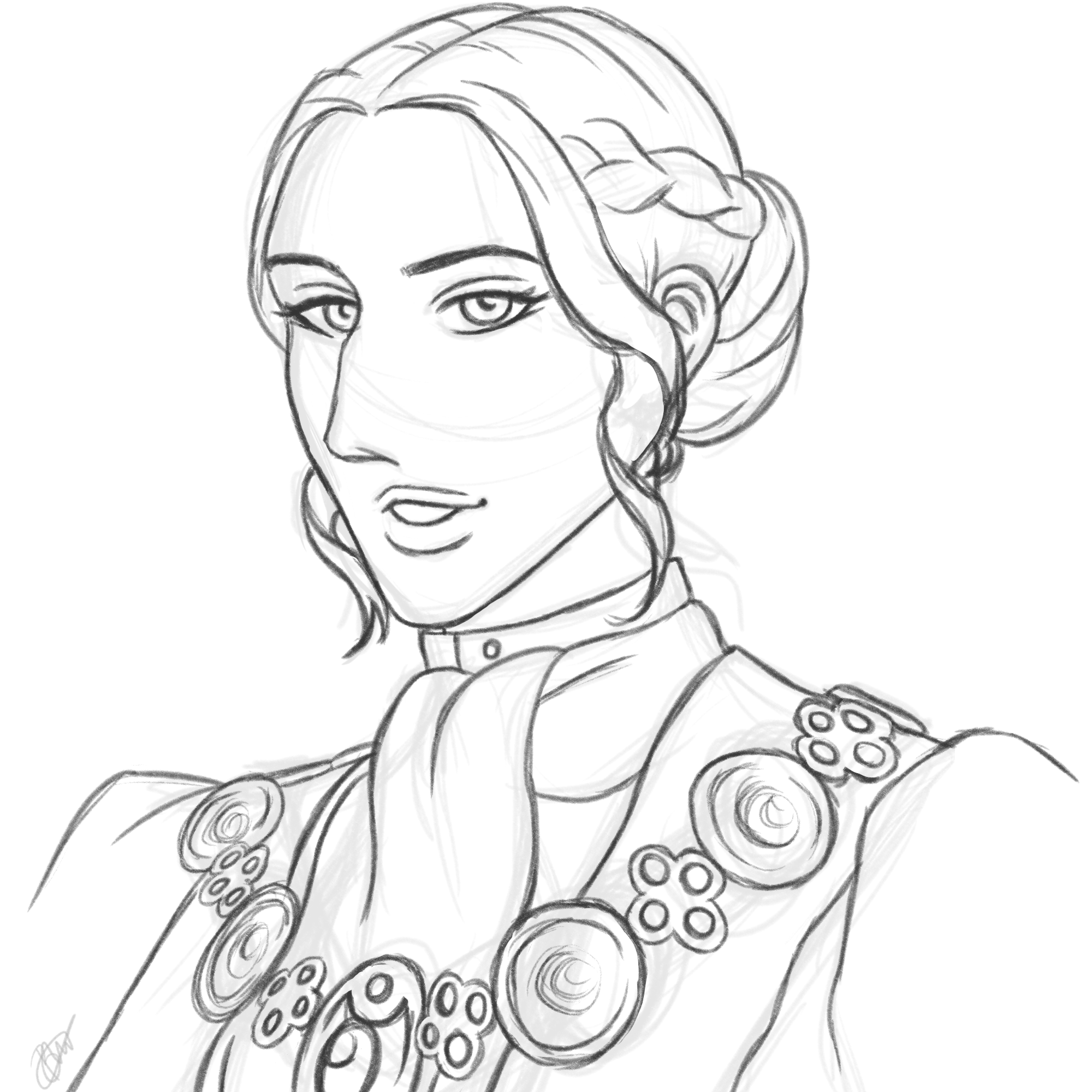 Josephine Montilyet from Dragon Age: Inquisition drawn in my manga and anime inspired art style.