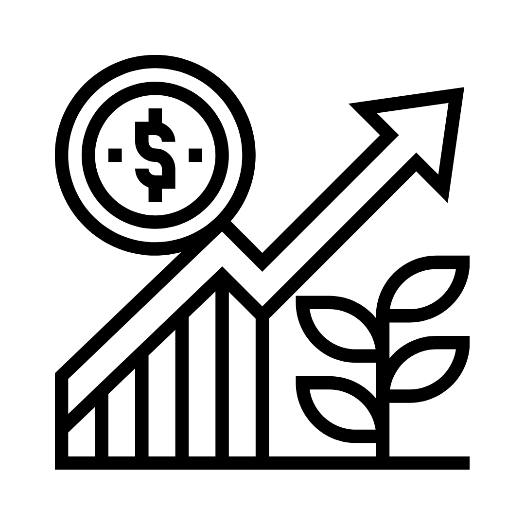 income increase chart icon