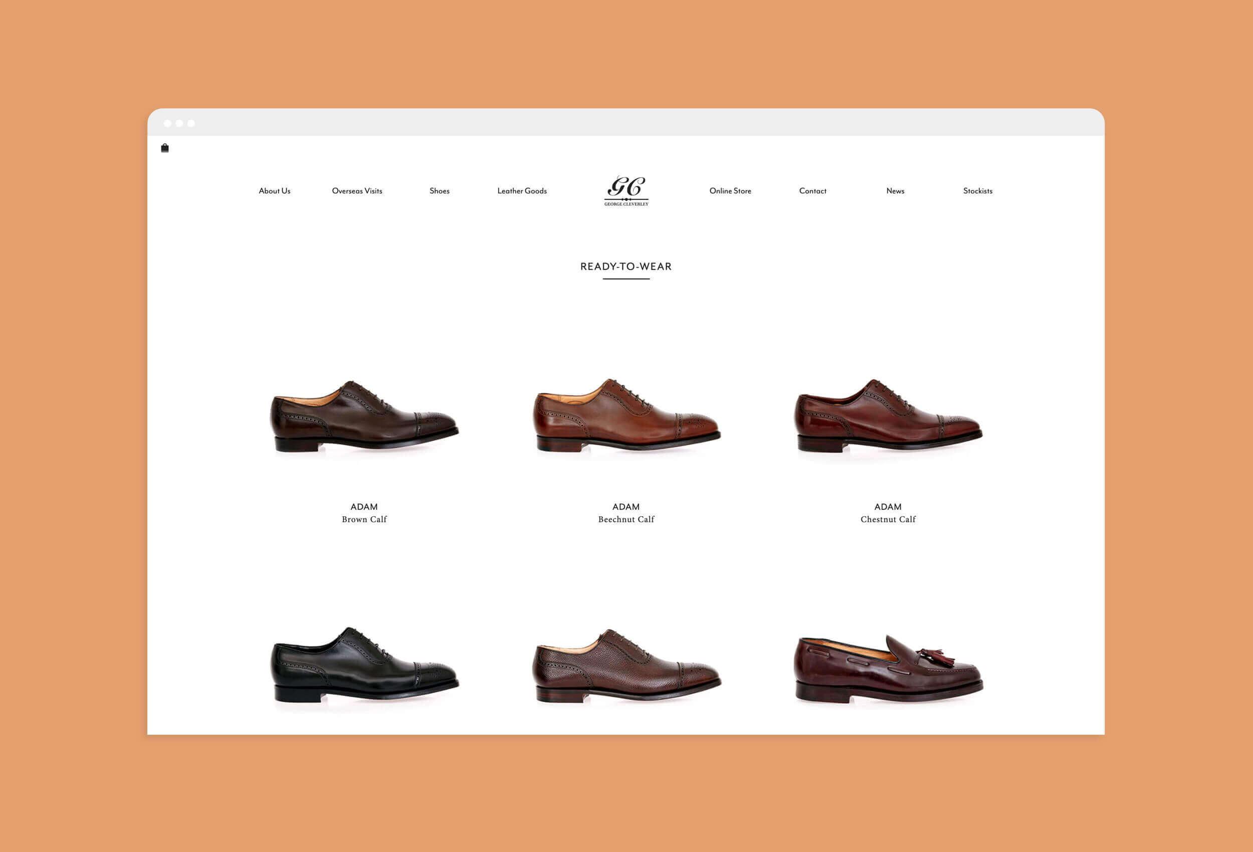 George Cleverley website screenshot