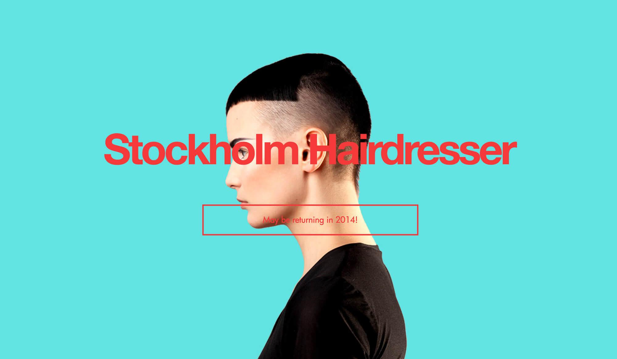 Stockholm Hairdresser website screenshot