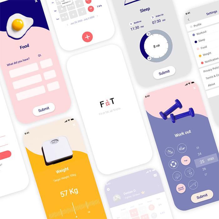 Fait App UI/UX Design / 月巴健康App设计