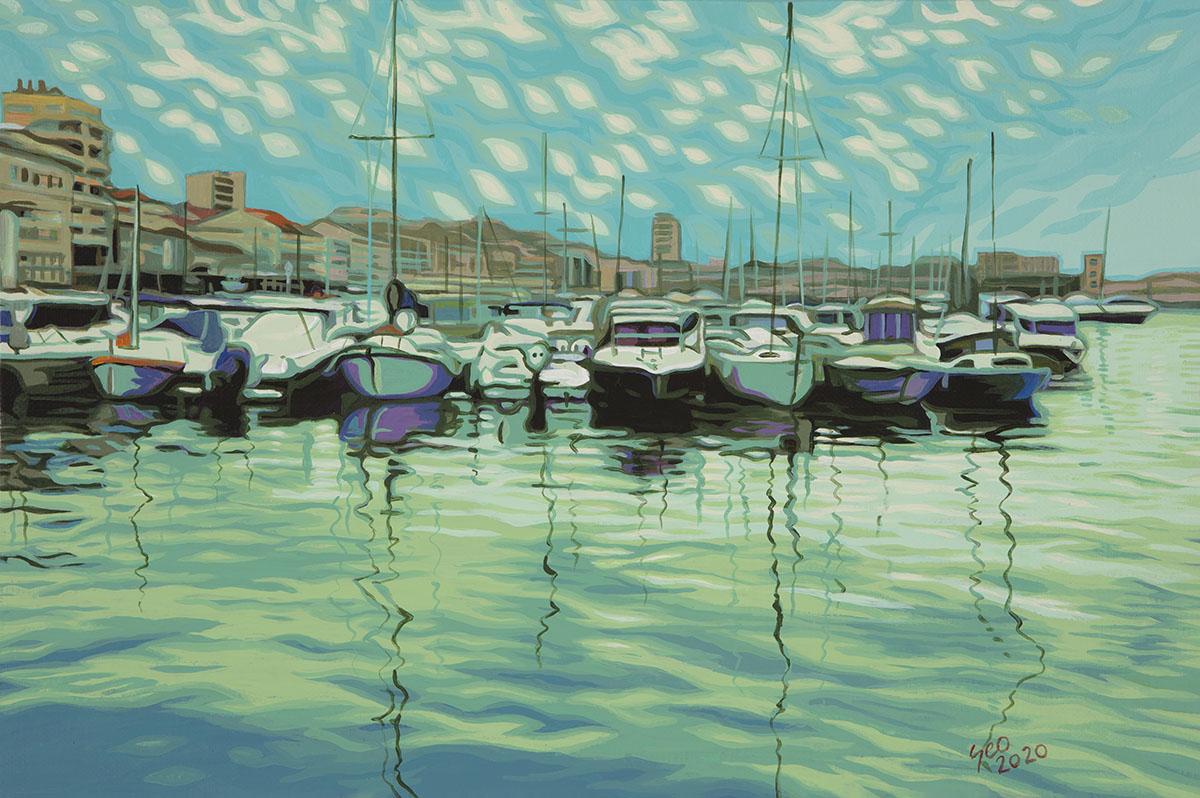 Life20-03︱27.3x41.0cm, Acrylic on Canvas︱2020