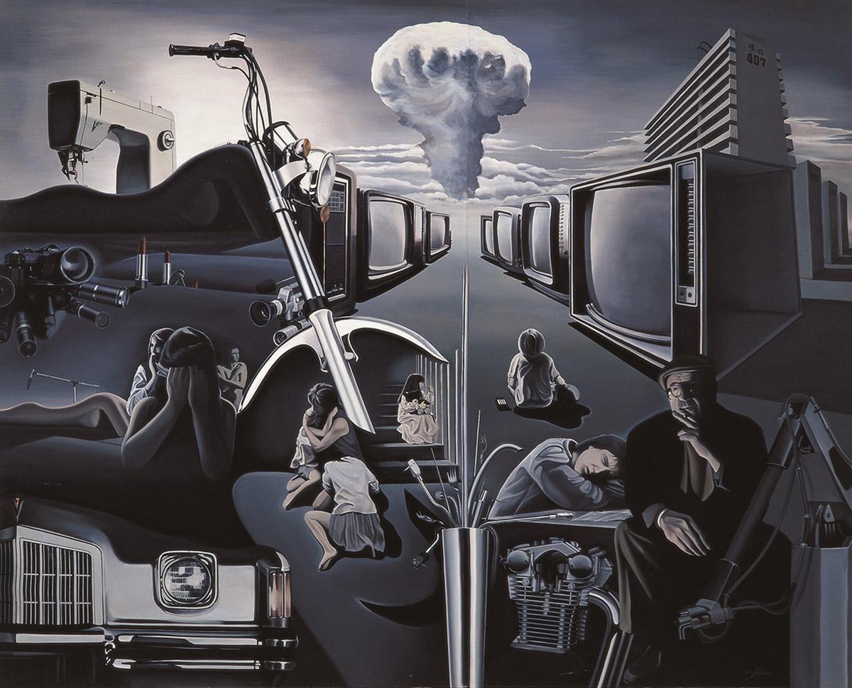 인간회귀(The return of humanbeing)︱227.3x182.0cm, Oil on canvas︱1984