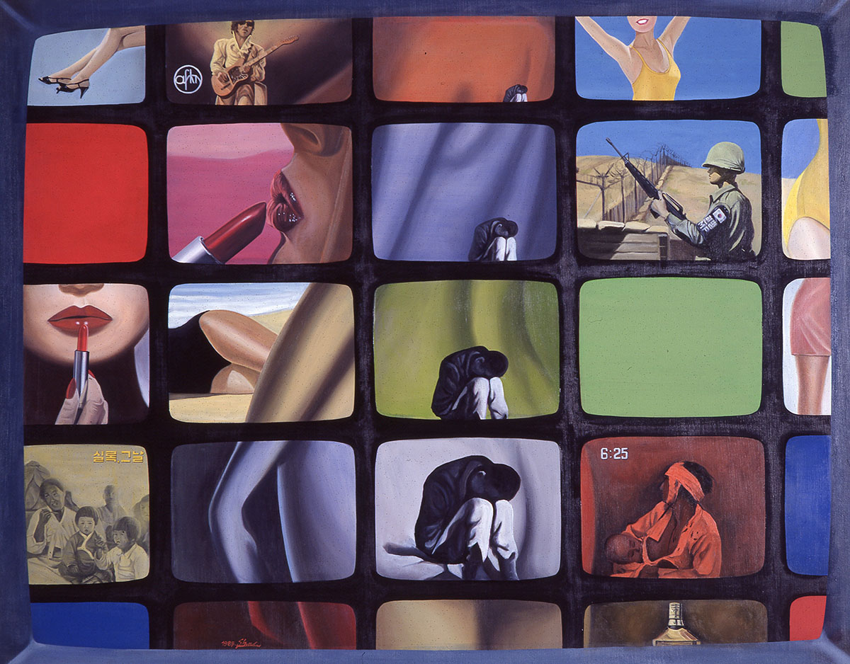 콘포지션85-40(Composition 85-40)︱162.0x130.3cm, Oil on canvas︱1985