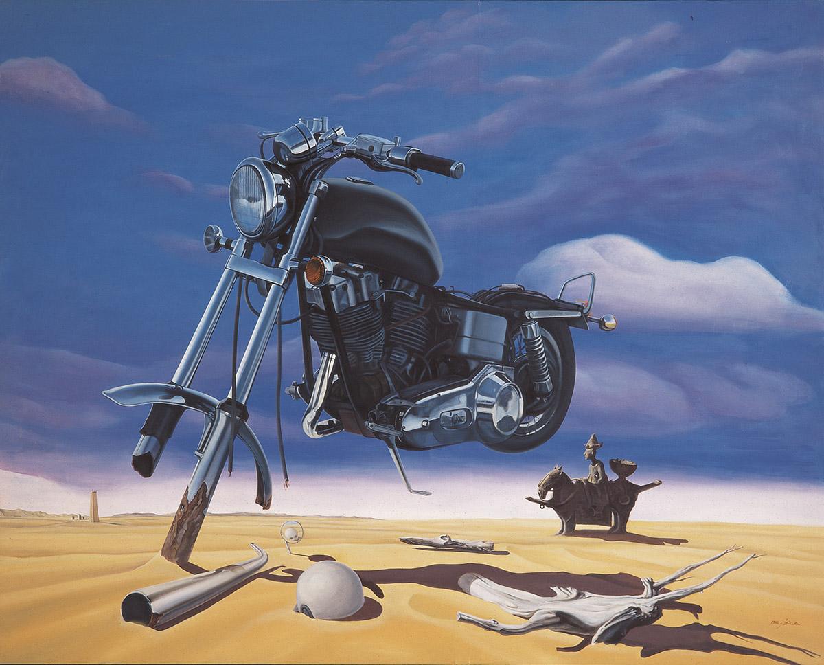 대지회귀(The return of humanbeing)︱227.3x182.0cm, Oil on canvas︱1986
