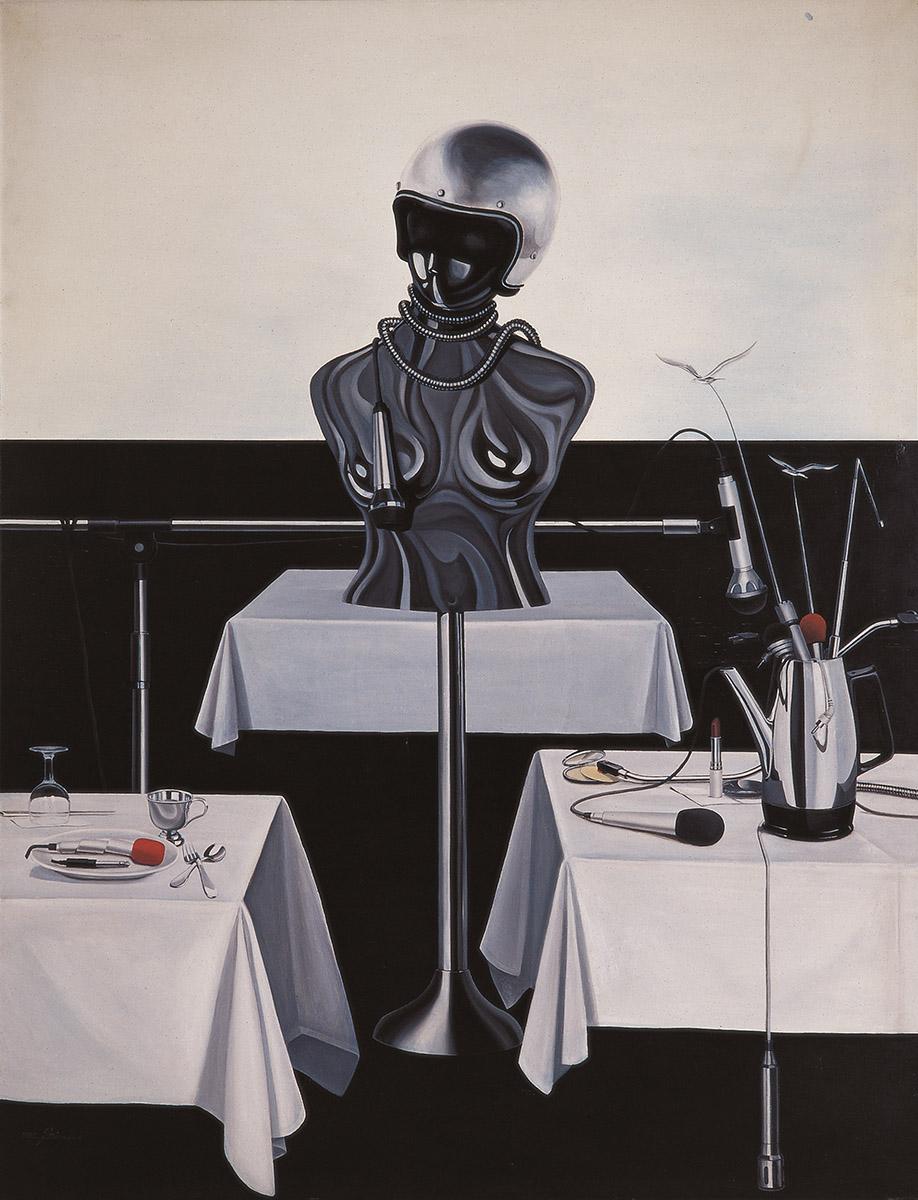 변질된 의식의 비정성︱112.1x145.5cm, Oil on canvas︱1982