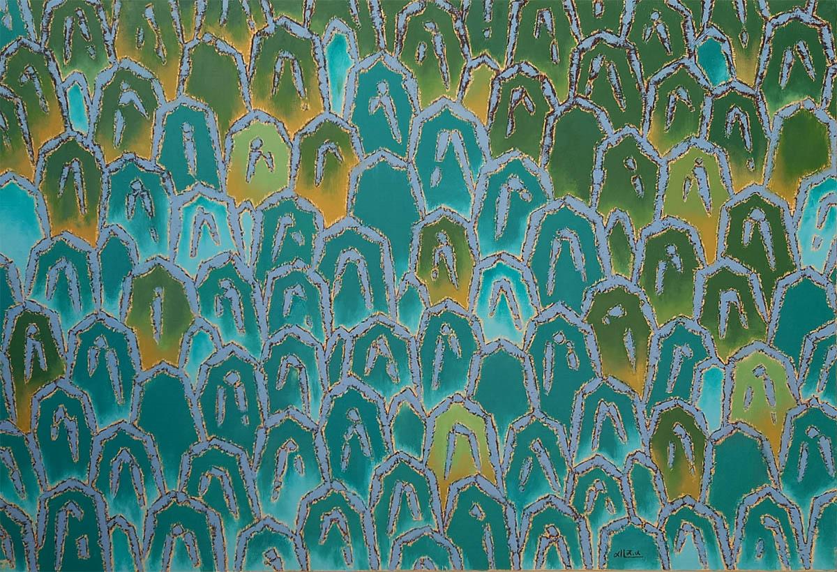 자연의 소리-반딧불 정원︱80.3x116.7cm, Oil on canvas︱2014