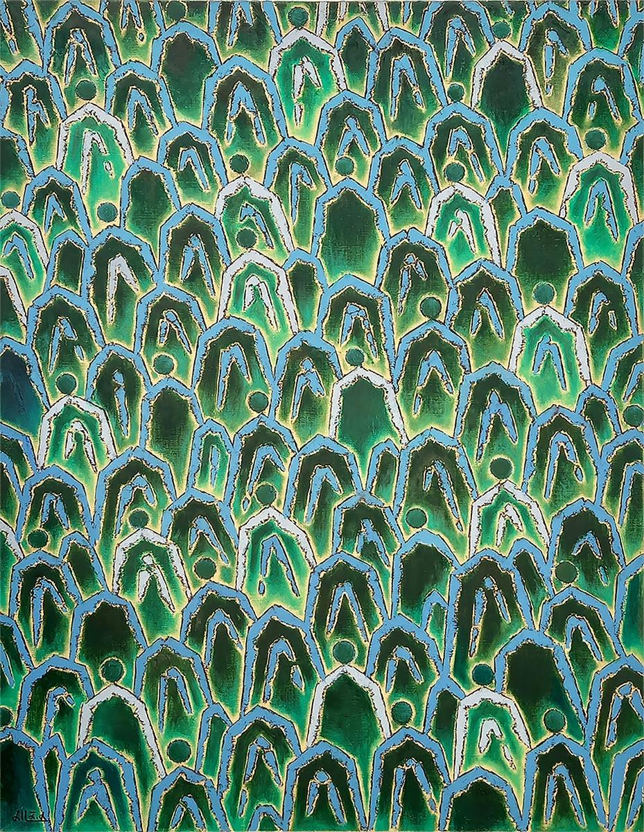 산의 소리-關係︱90.9x116.7cm, Oil on canvas︱2015