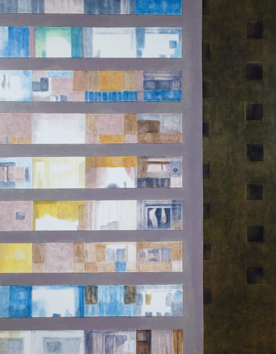 회색도시-그 안1︱116.8x91.0cm, Oil on canvas︱2015