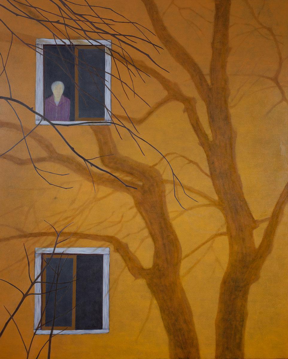 회색도시-시선︱162.2x130.3cm, Oil on canvas︱2015