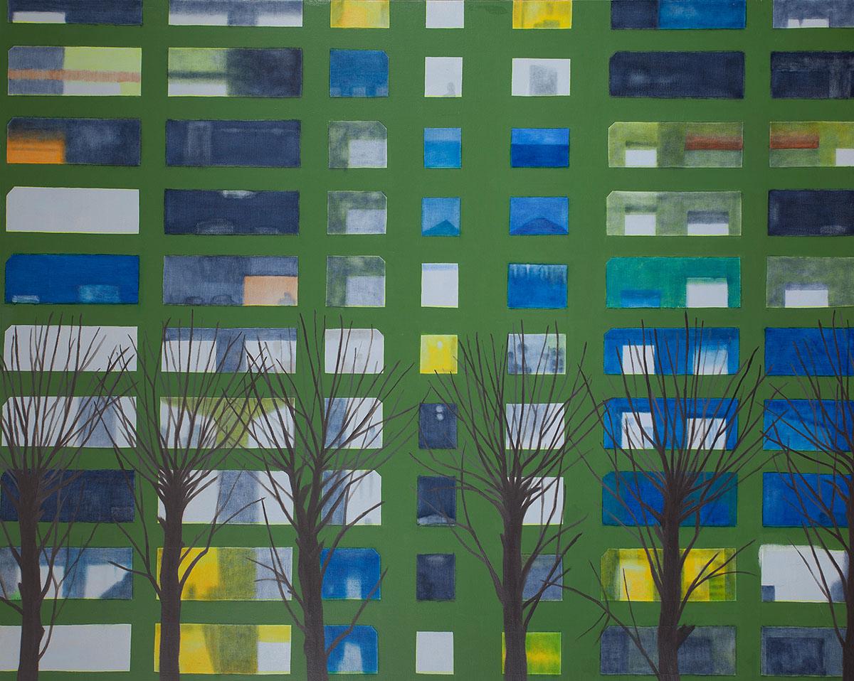 회색도시-아파트1︱162.2x130.3cm, Oil on canvas︱2015
