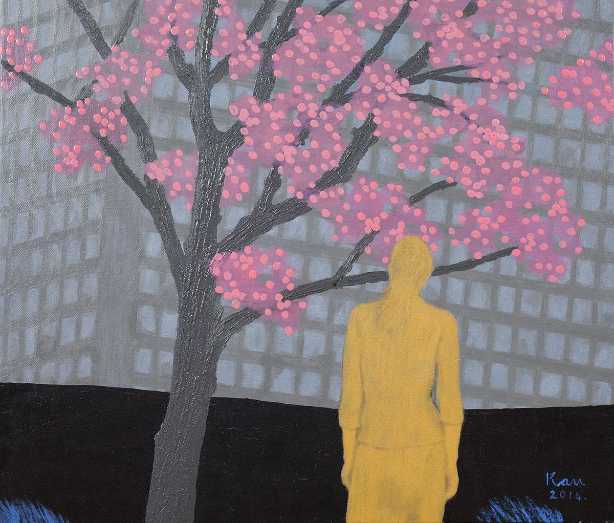 회색도시-여인︱53.0x45.5cm, Oil on canvas︱2014