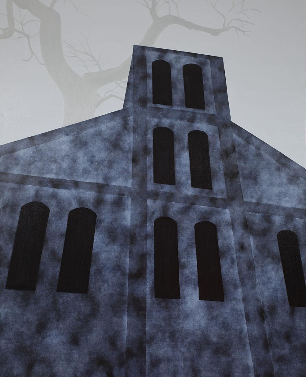 회색도시-교회︱162.2x130.3cm, Oil on canvas︱2015