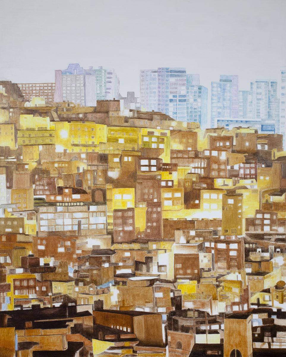회색도시-도시이면︱162.2x130.3cm, Oil on canvas︱2015