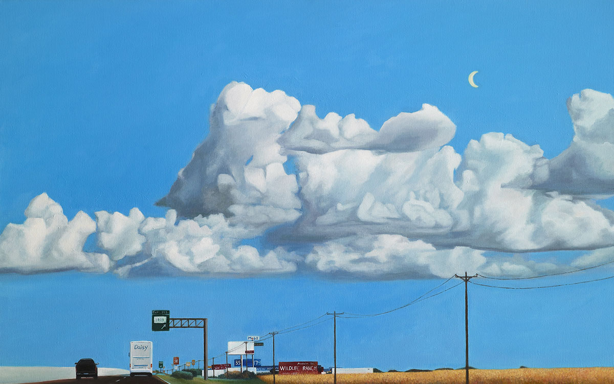 Road Trip 1701︱72.7x116.8cm, Oil on canvas