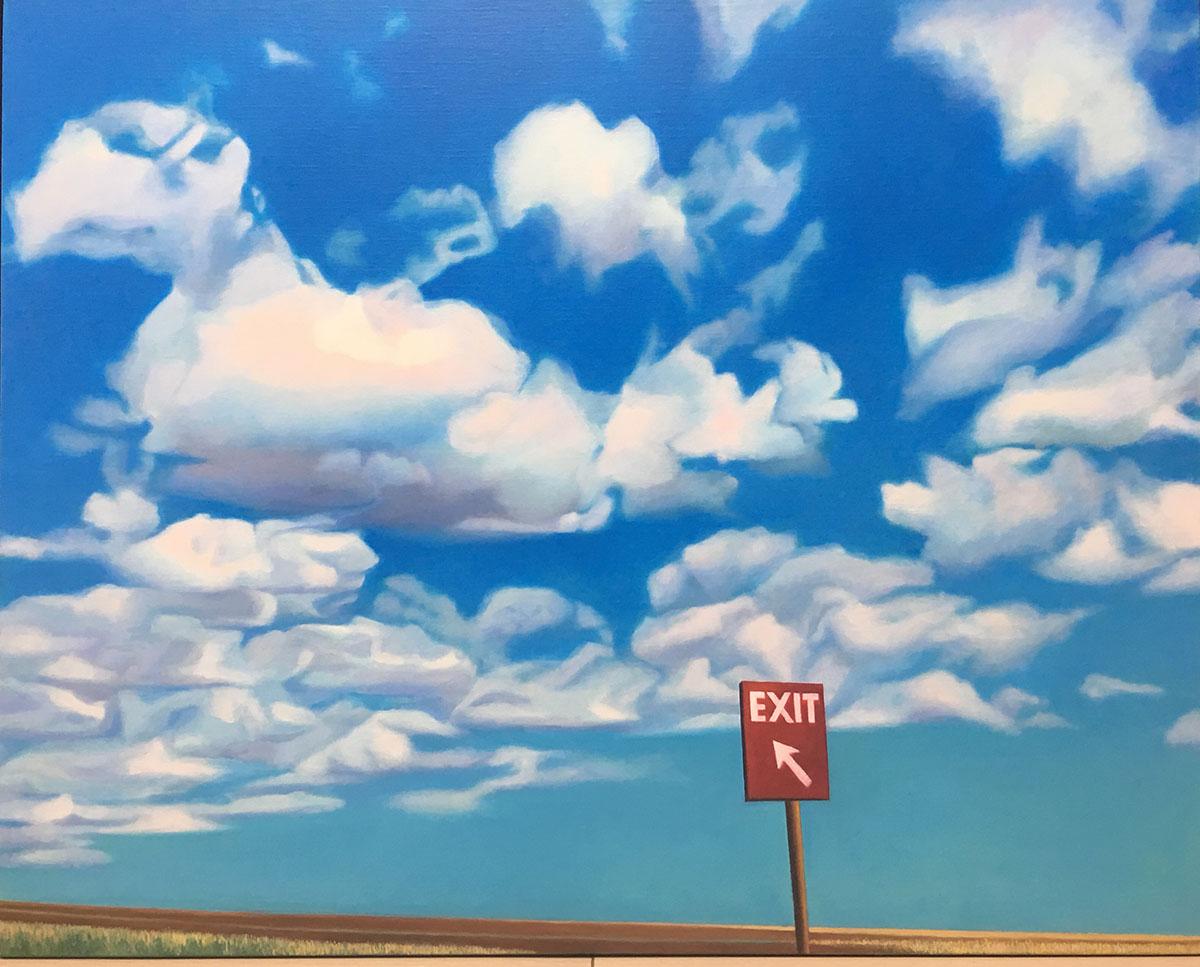 Road Trip 1702︱66.0x91.0cm, Oil on canvas