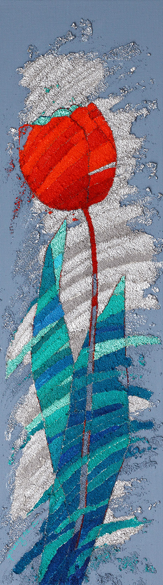 고맙다. 봄︱18.0×62.5cm, Mixed media on Canvas︱2017