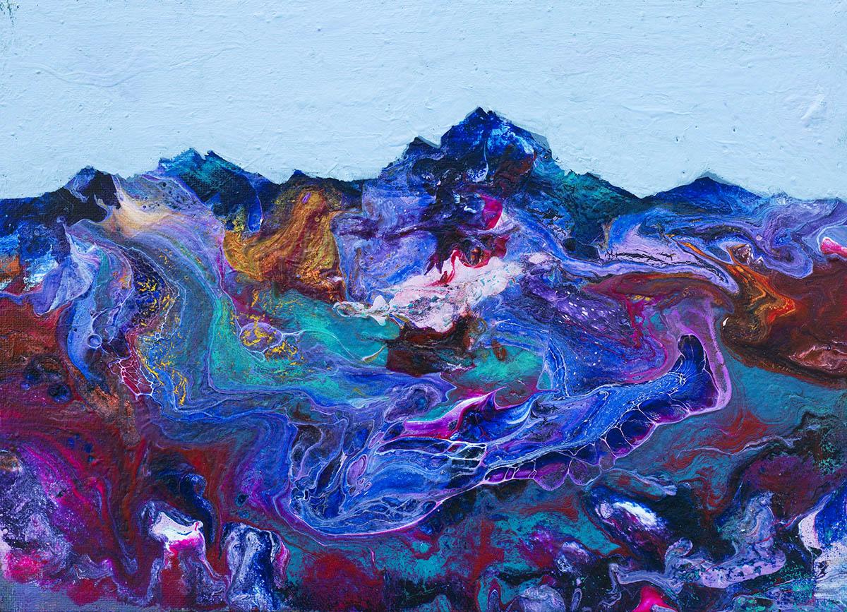 자연호흡색︱24.2x33.3cm, Acrylic on canvas︱2020
