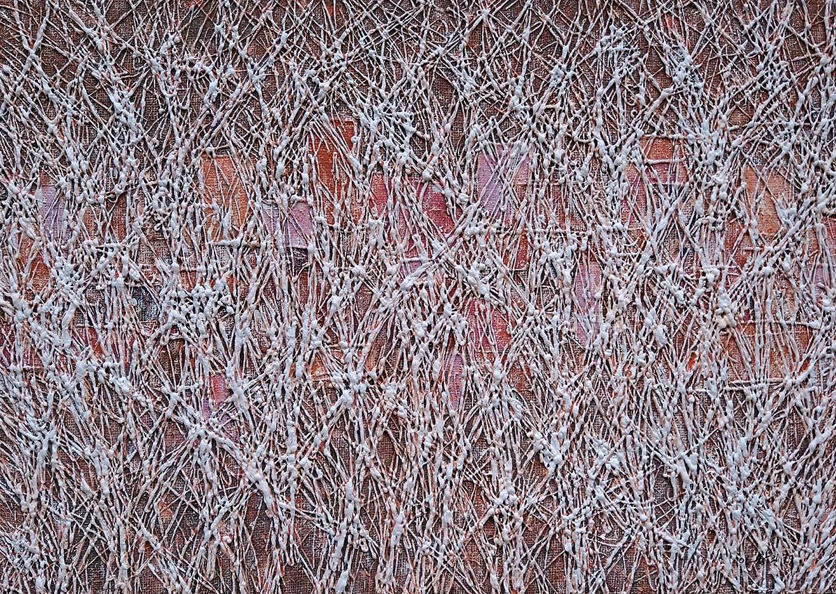 숲속도시︱65.1x90.9cm, Mixed media on canvas