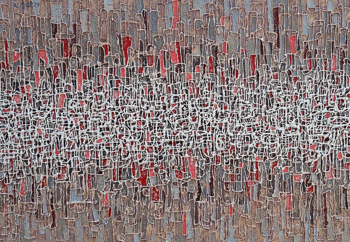 無-도시︱65.1x90.9cm, Mixed media on canvas