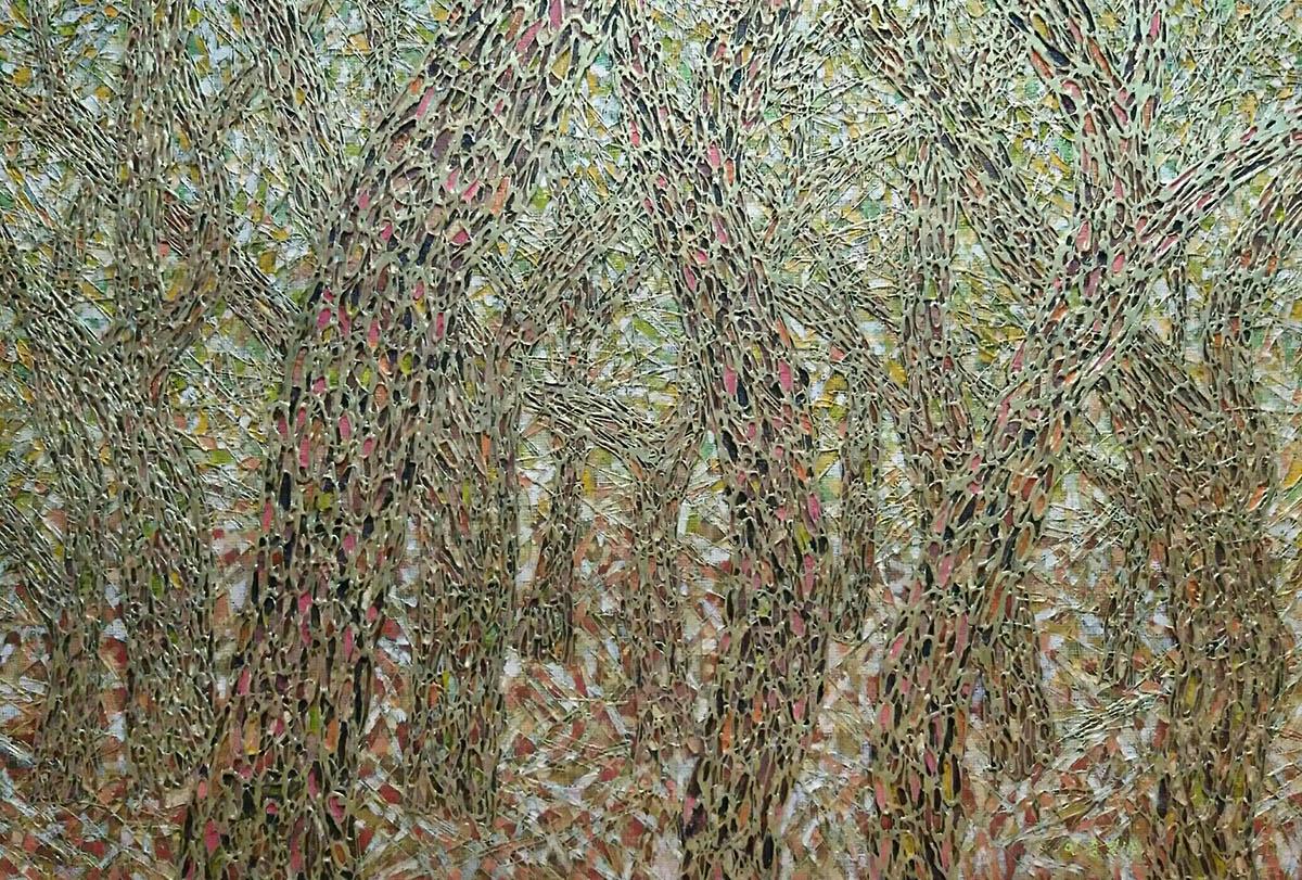 황금 소나무︱116.0x81.0cm, Mixed media on canvas︱2018