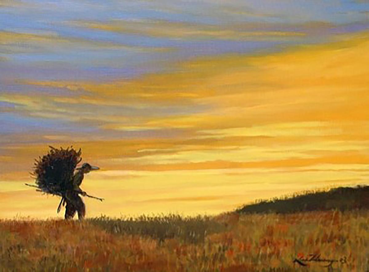 추억속의 자연-하동뜰에서︱53.0x40.9cm, Oil on canvas