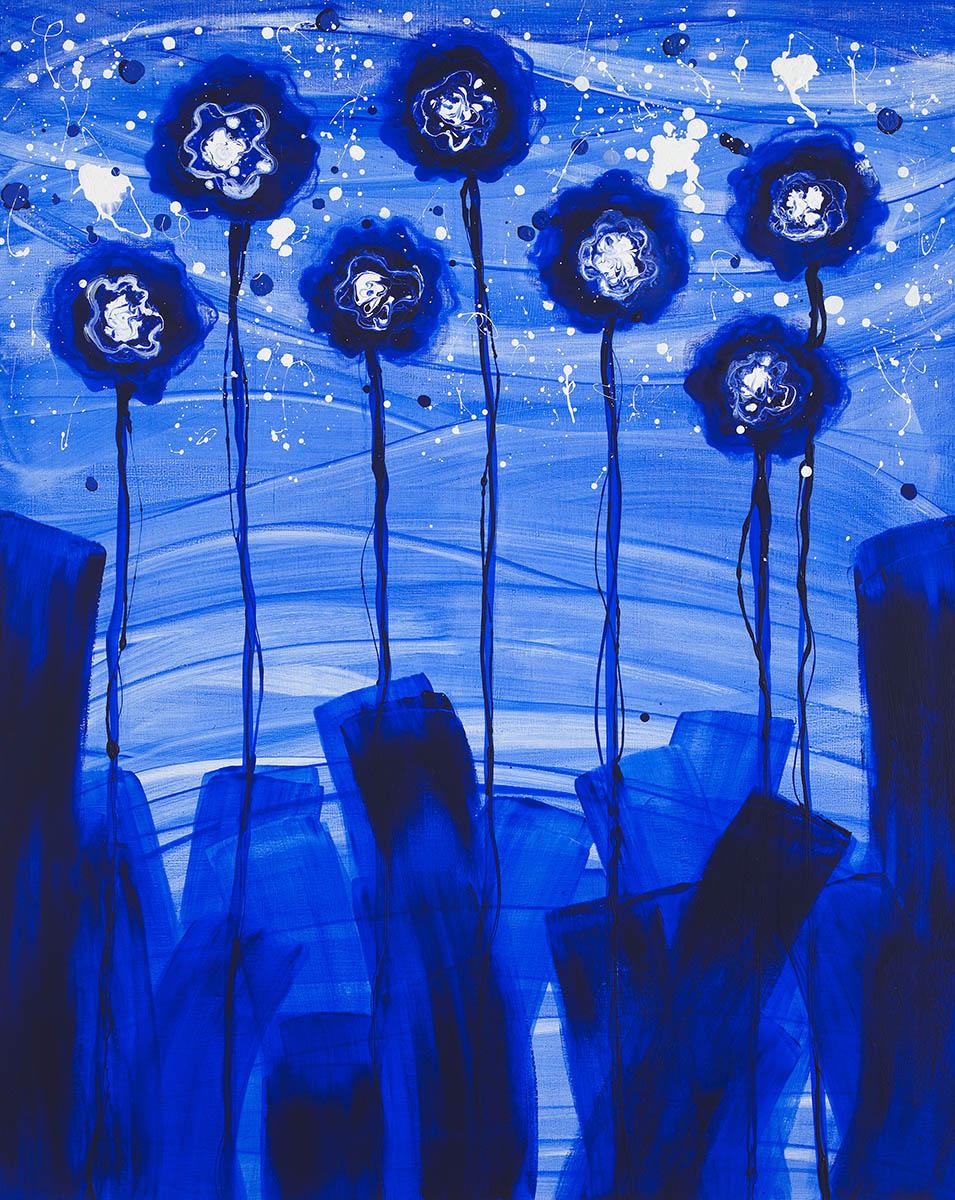 생명-결︱162.2x130.0cm, Acrylic on canvas︱2016