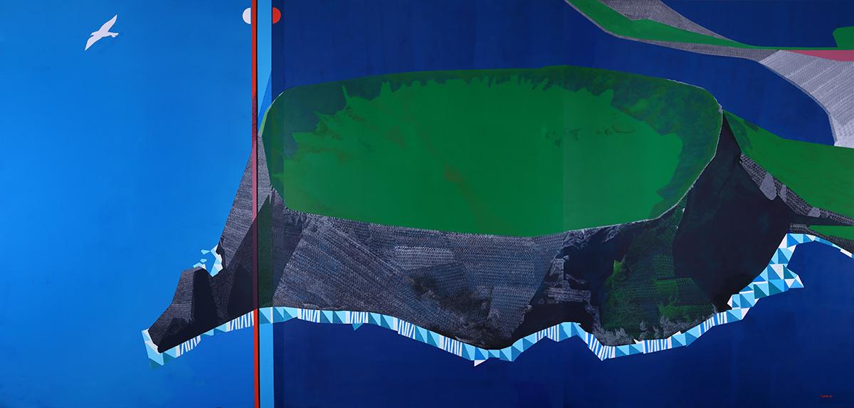 성산 일출봉︱872.7x197.0cm, Mixed media on canvas︱2020