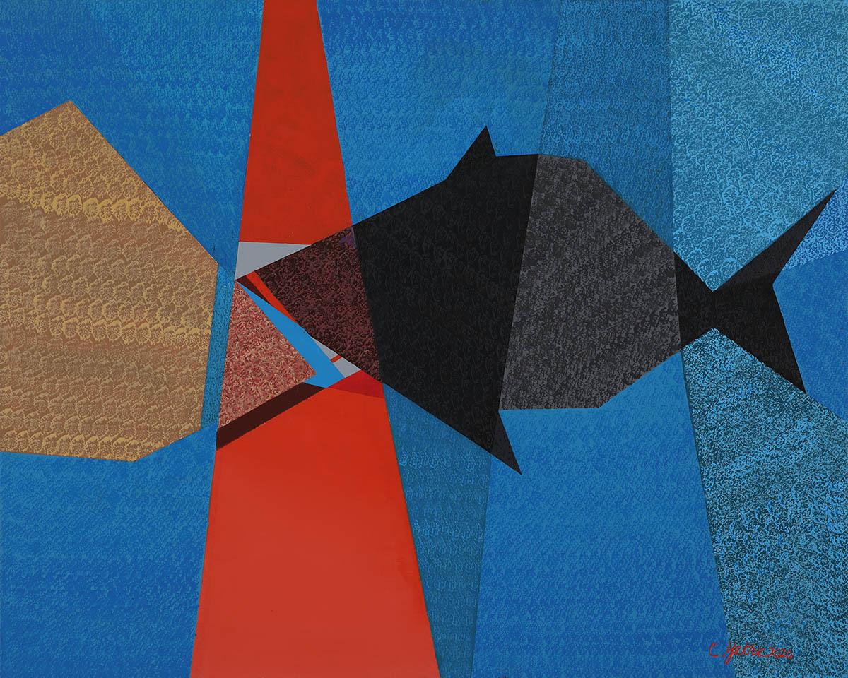 아무르A︱90.9x72.7cm, Mixed media on canvas︱2020