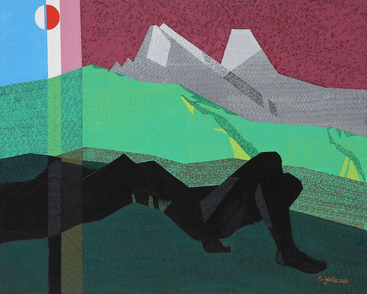 신록의 인상B︱90.9x72.7cm, Mixed media on canvas︱2020