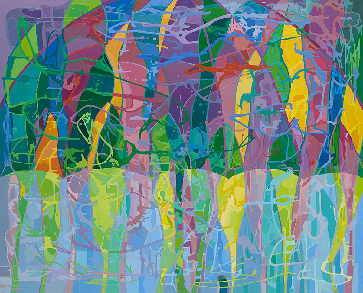 비오는 날의 합창3︱130.3 x 162.2cm, Oil on canvas︱2020