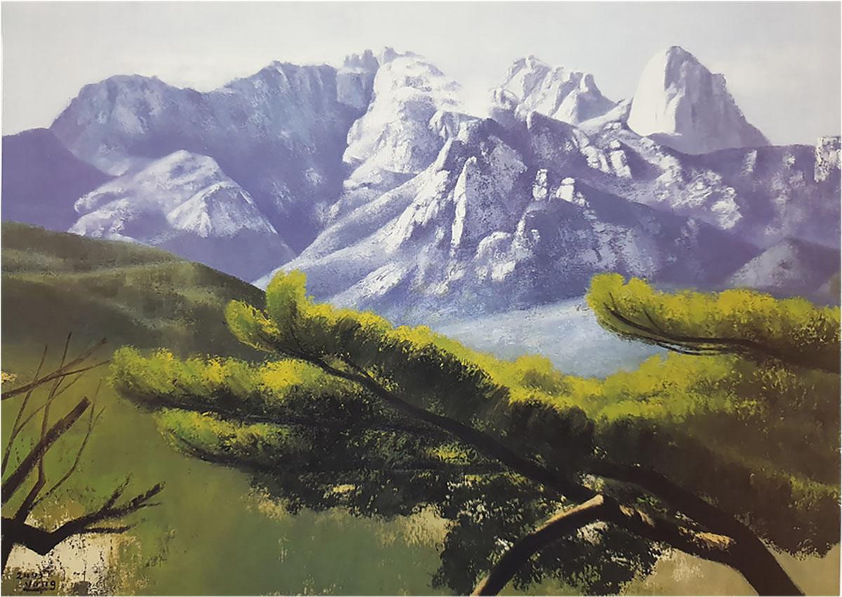 북한산의 위용︱162.2x130.3cm, Oil on canvas