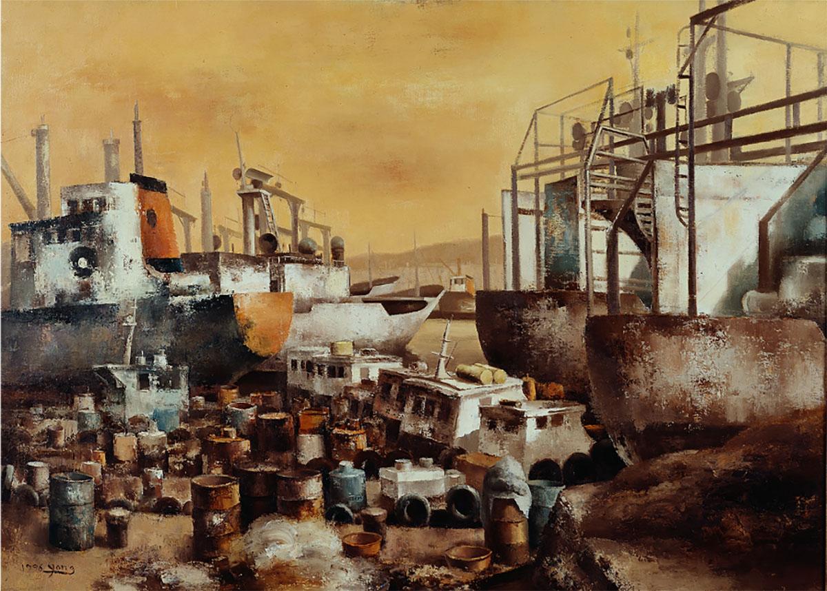 부산항︱162.2x130.3cm, Oil on canvas