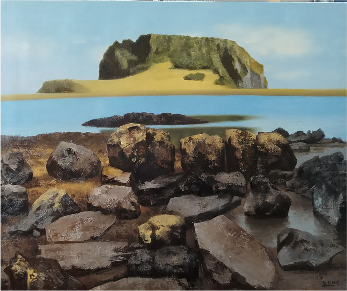 제주 성산포︱90.9x72.7cm, Oil on canvas