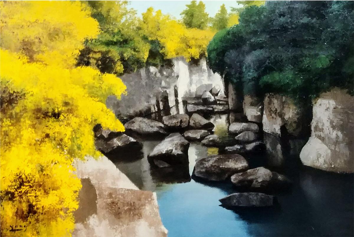 제주 용연︱90.9x65.1cm, Oil on canvas