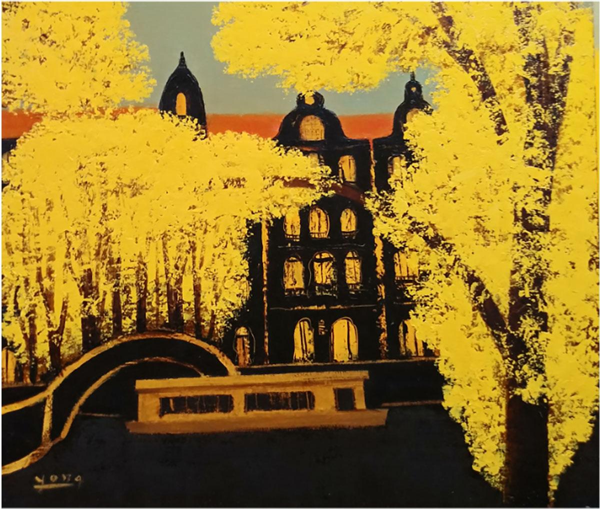 암스테르담의 만추︱53.0x45.5cm, Oil on canvas