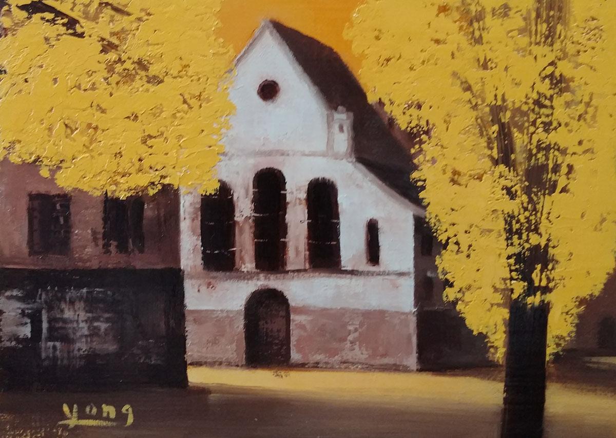 풍경︱22.7x14.0cm, Oil on canvas