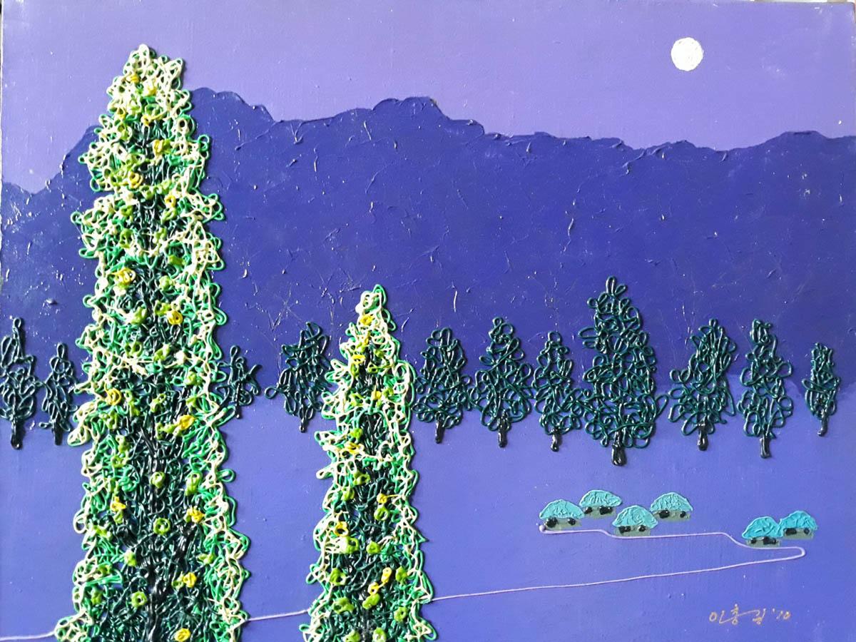 달밤︱53.0x40.9cm, Mixed media on canvas︱2010