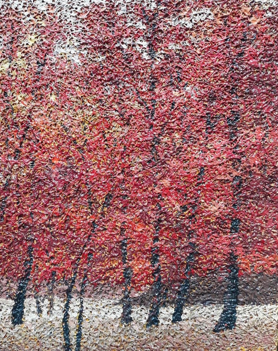 가을길︱53.0x40.9cm, Mixed media on canvas︱2011