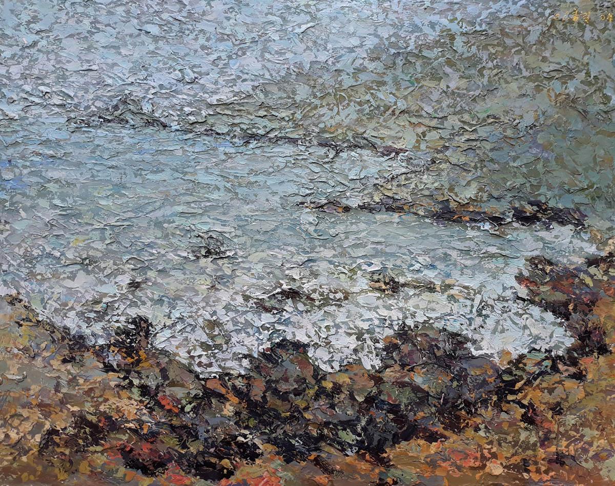 해변(부산송도혈청소)︱53.0x40.9cm, Mixed media on canvas︱2004