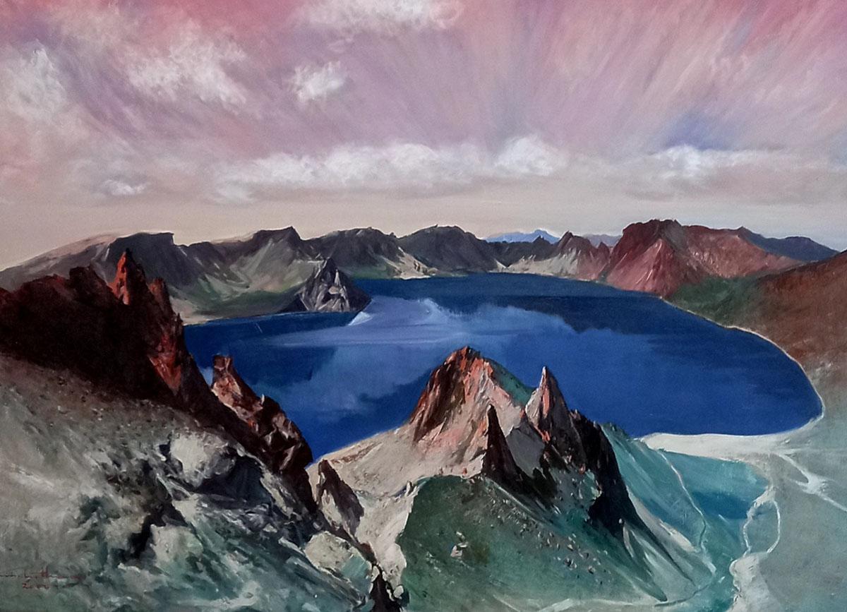 백두산 천지︱145.5x112.1cm, Oil on canvas︱2016
