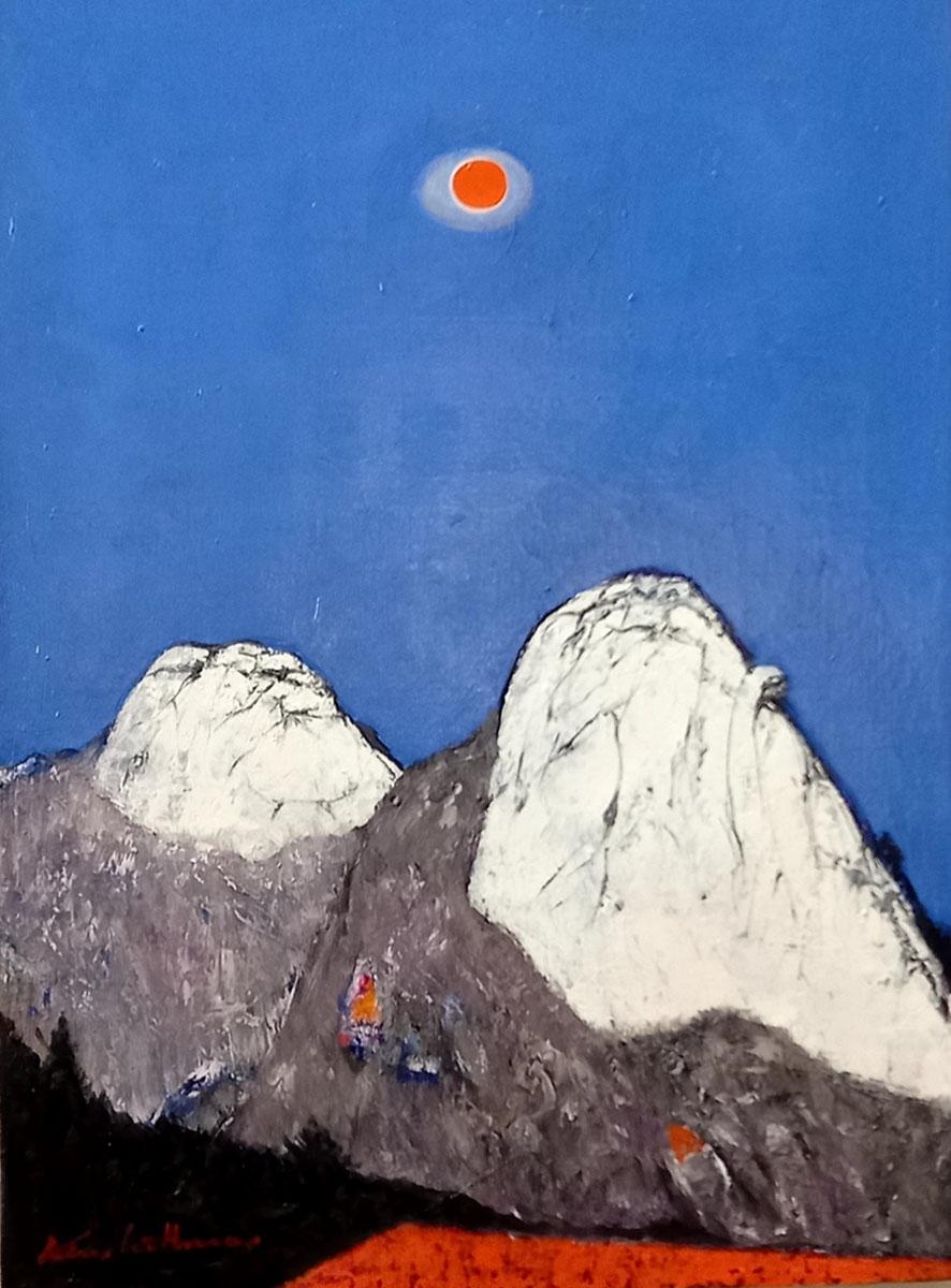 인수봉 백운대︱60.6x72.7cm, Oil on canvas︱2021