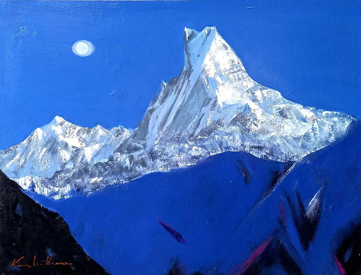 히말라야 마츄프추레︱145.5x97.0cm, Oil on canvas︱2020