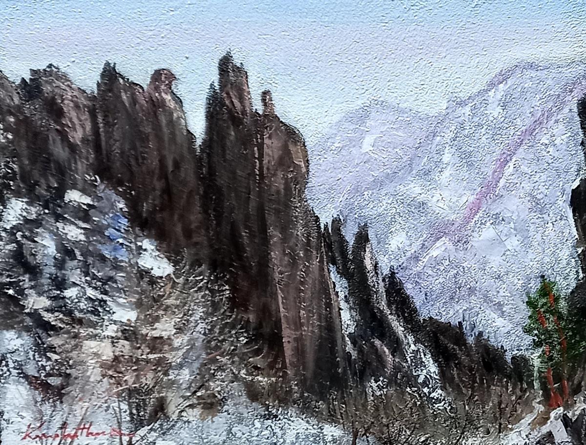 금강산 천년바위︱53.0x40.9cm, Oil on canvas︱2021