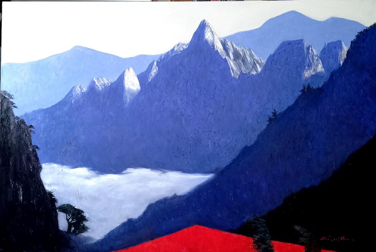 설악산에 운해︱145.5x97.0cm, Oil on canvas︱2021