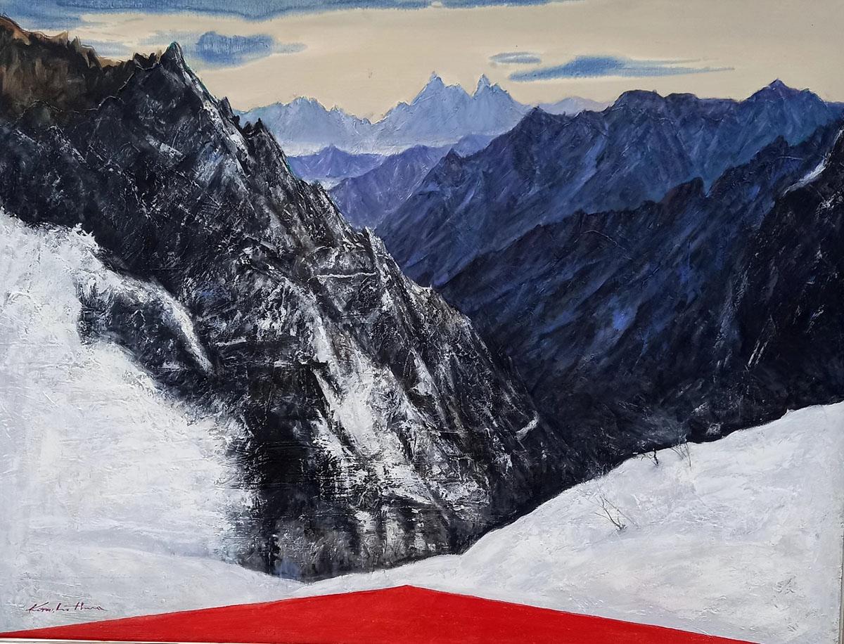 설악 마등령에서︱145.5x112.1cm, Oil on canvas︱2020