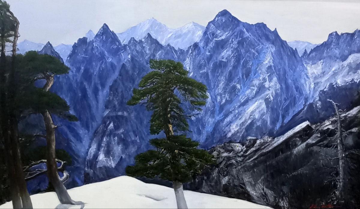 설악산︱193.9x97.0cm, Oil on canvas︱2021